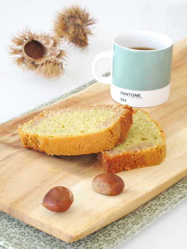 Cake tè matcha e crema di marroni
