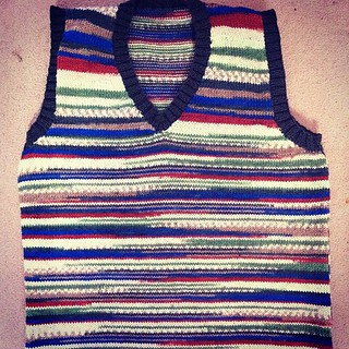 One genuine fake 1950's horrible home knit for#goodwood