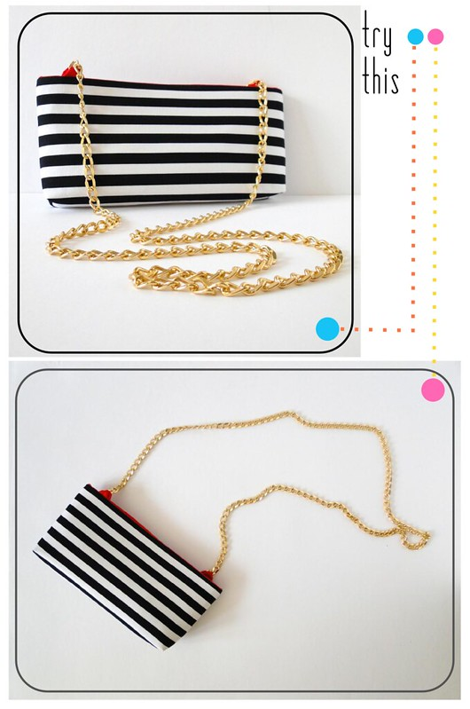 01 Striped Crossbody Clutch Tutorial by Fabric Paper Glue