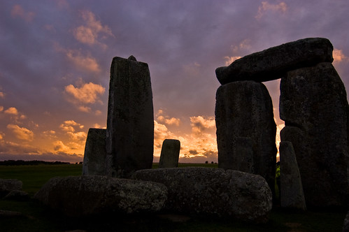 Stonehenge - Megolith at Sunset - 09-10-12