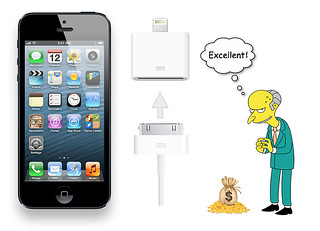 iPhone 5 with Mr. Burns