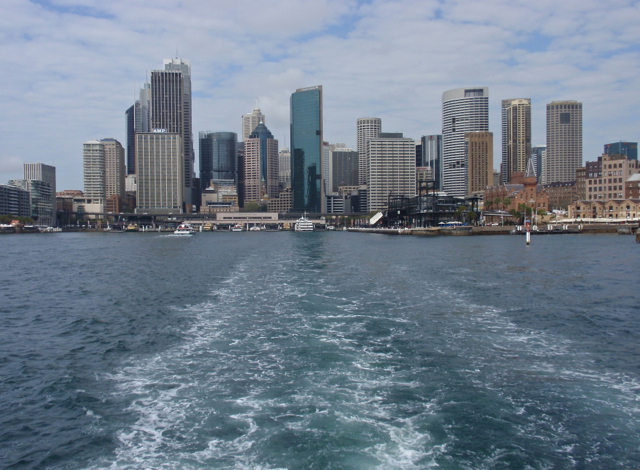 Sydney city from ferry