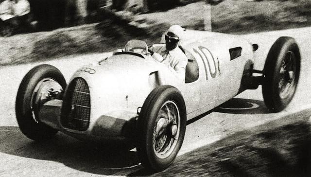 1937 Auto Union Typ C, Bernd Rosemeyer at Masaryk GP, Brno