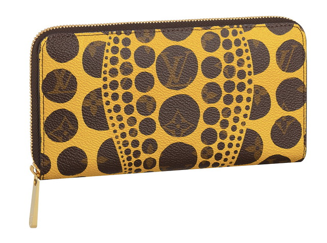 Zippy Wallet Monogram Pumpkin Dots yellow