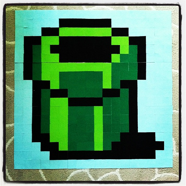Super Mario brothers qal block #7 - green pipe