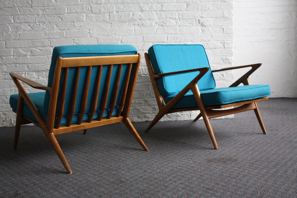 Brilliant Danish Mid Century Modern Poul Jensen Z Chairs For Selig  (Denmark, 1950u0027s)