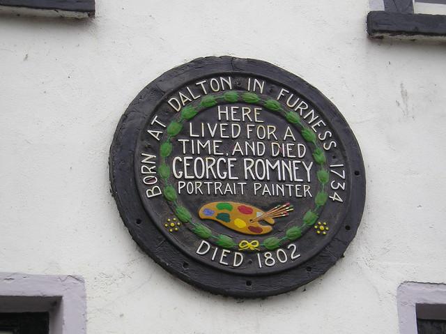 Photo of George Romney black plaque