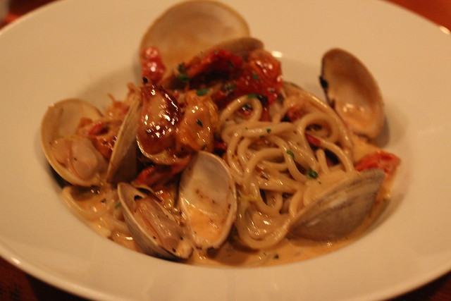 Spaghetti with Clams at Bluebird Tavern