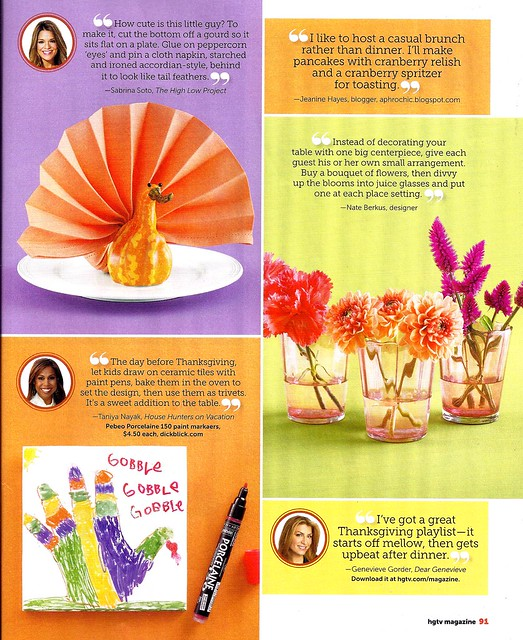 HGTV Mag thanksgiving 2 Oct 2012