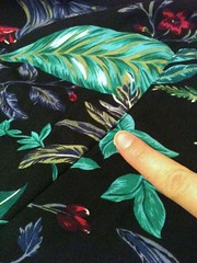 Blue Floral Shorts-to-Skirt Refashion - In Progress