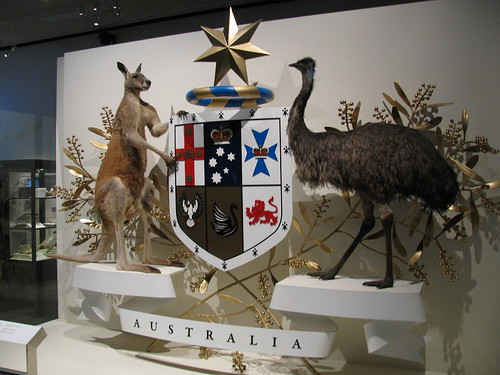 Austrlian Coat of Arms at Melbourne Museum by holidaypointau
