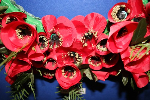 Up close on the Prince of Wales Wreath