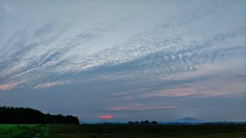 Sunrise at wegkreuzung Gersdorf/Seehäuser