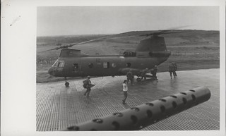 Marines Board a CH-46 Sea Knight Helicopter, 4 May 1968