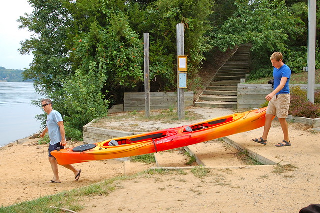 Getting ready to launch at Mason Neck State Park
