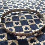 floral motif mexican silver bangle