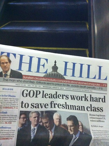 My copy of The Hill on the DuPont Circle Escalator.