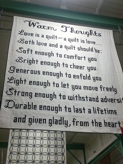 a warm quilt