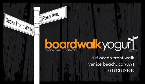Boardwalk Yogurt Venice Beach