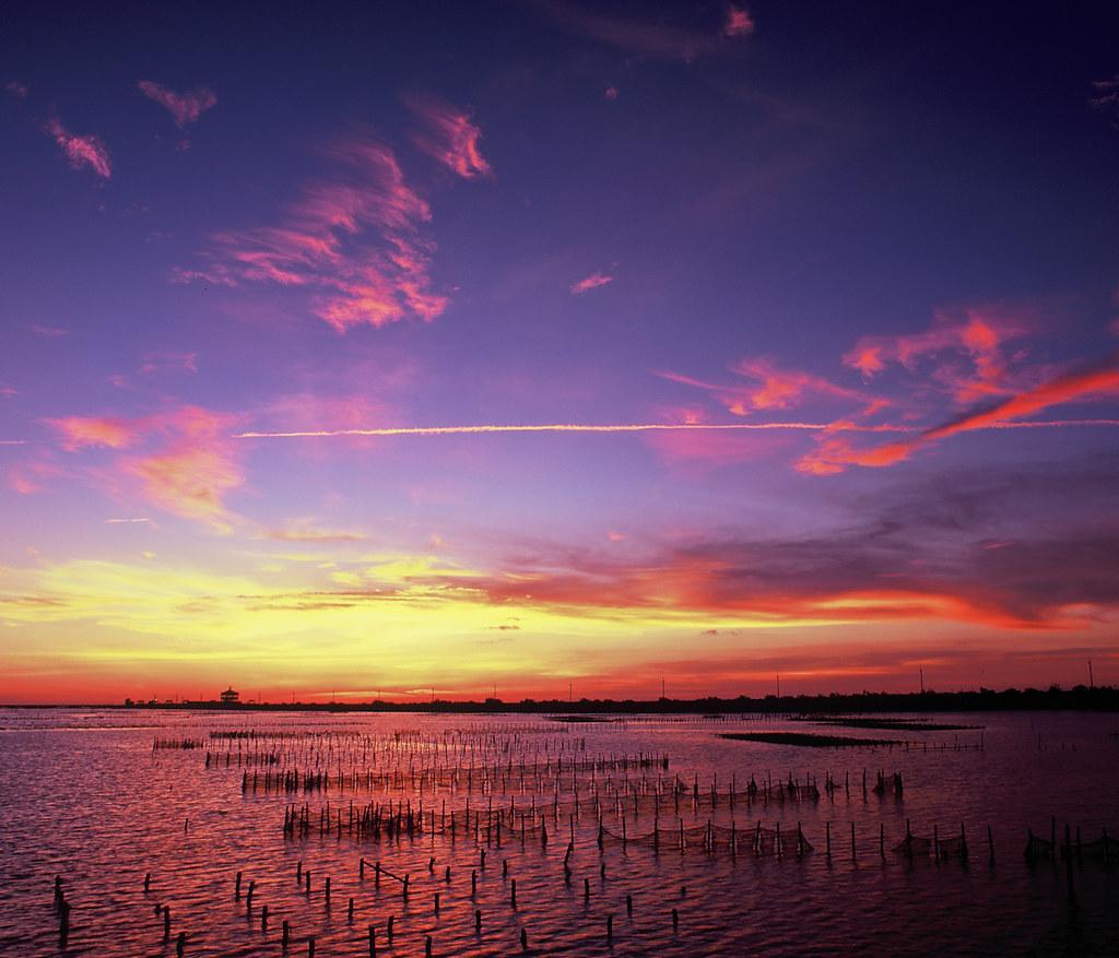 夕遊井仔腳。七股潟湖