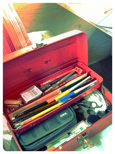 writing/sketching toolbox by Stephanie Distler