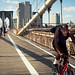 cycling over the brooklyn bridge by courtody