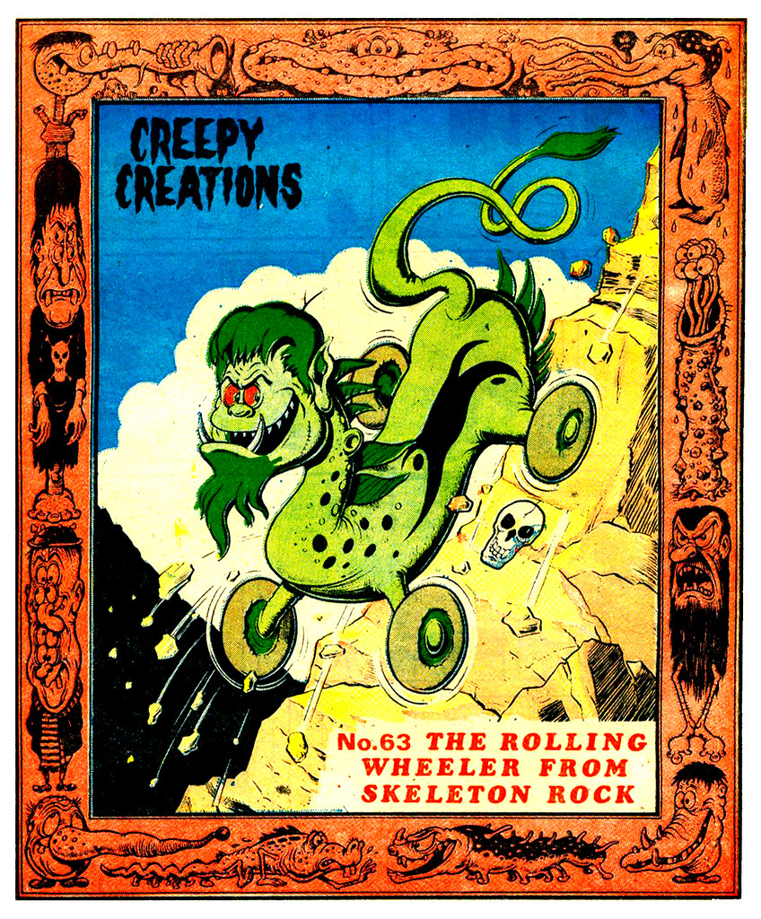 Creepy Creations No.63 - The Rolling Wheeler From Skeleton Rock