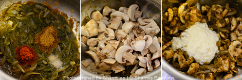 How to make mushroom biryani - Step3