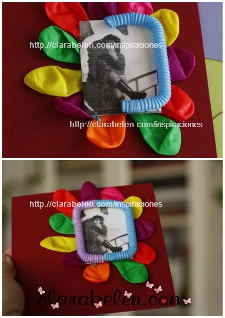 Nueva hoja para álbum casero de fundas de Cds con globos y pajitas