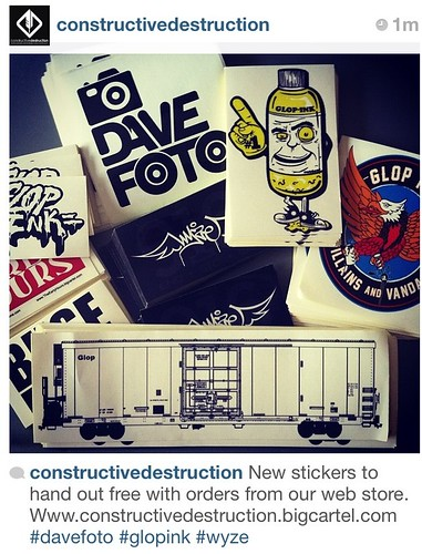 Free stickers with orders from our webstore by CONSTRUCTIVE DESTRUCTION