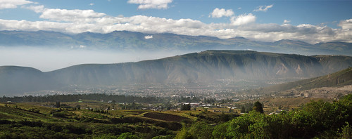 city panorama mist mountains southamerica fog clouds landscape quito ecuador paisaje panoramic capitol andes sudamérica americadelsur