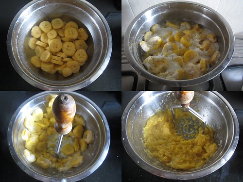 Banana Halwa-step1