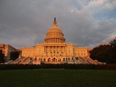 The Capitol at sunset Washington (Washington DC, USA 2012)