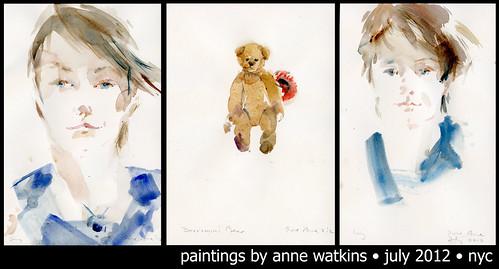 Being painted by Anne Watkins by borromini bear