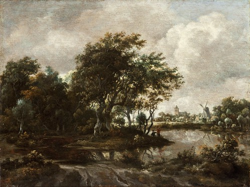 Meindert Hobbema - Los Angeles County Museum of Art M.2009.106.7. Landscape with Anglers and a Distant Town (c. 1664-1665)