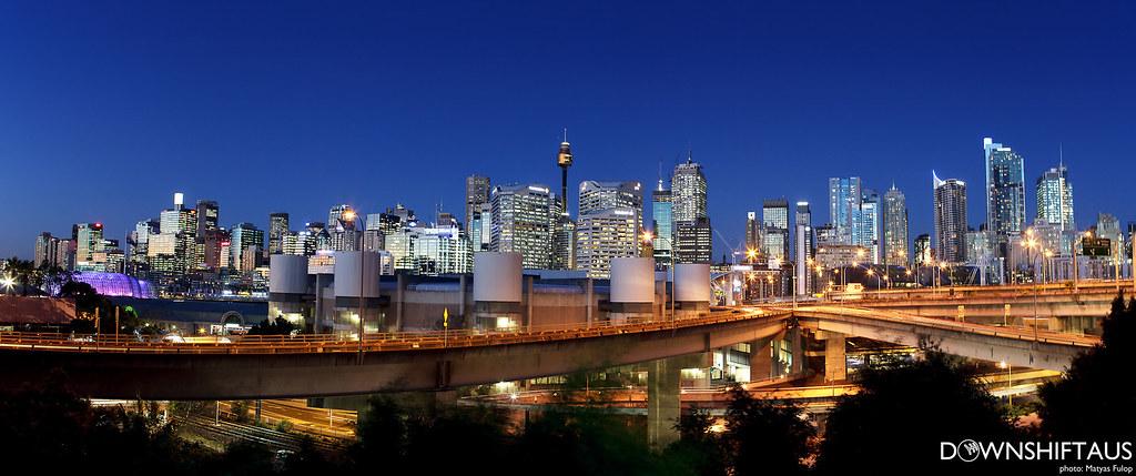 Sydney panorama night