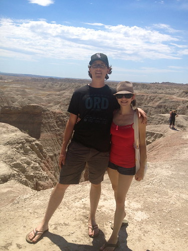 P and me in the Badlands