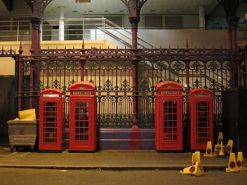 Phone boxes, Smithfield Market