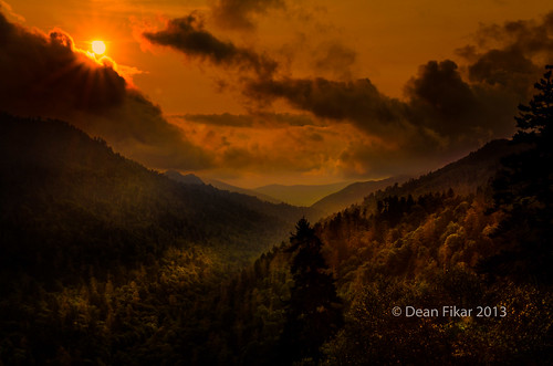 sunset sunlight contrast twilight unitedstates tennessee gatlinburg smokymountains