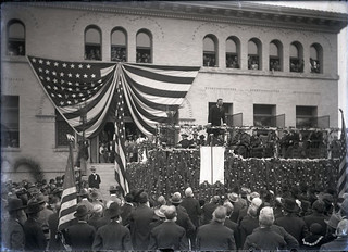 President Theodore Roosevelt spoke at Pomona College in 1903