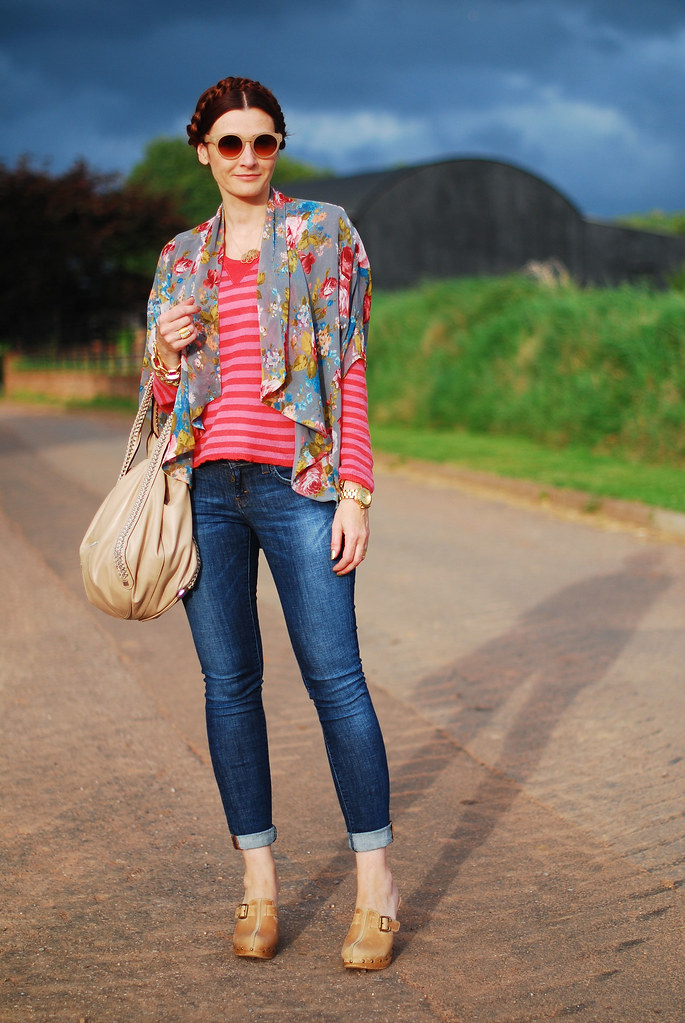 Funky Pattern Mix and Denim