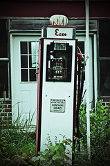 The Old Store Gas Pump                    Esso - contains LEAD