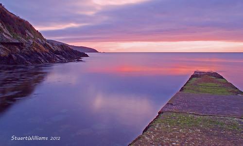 sea sunrise dawn coast isleofman portsoderick