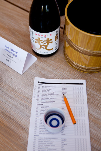 Evaluating the Daiginjo A sake by  Born