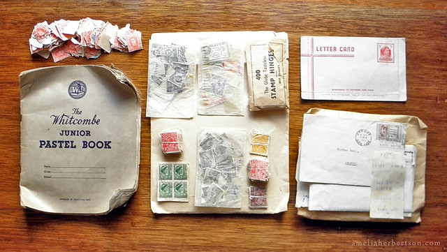 Paper ephemera - My mothers/uncles/grandfathers stamps