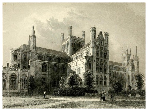 014-Catedral de Peterborough-Winkles's architectural and picturesque illustrations of the catedral..1836-Benjamin Winkles