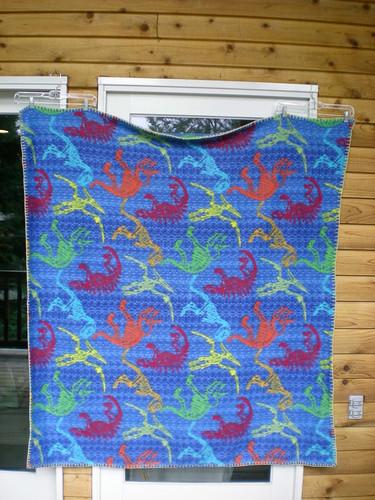 "Dino fleece blanket 55 x 62"" from SVQ"