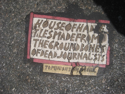 House of Hades Toynbee Tile 2012 NYC 1719