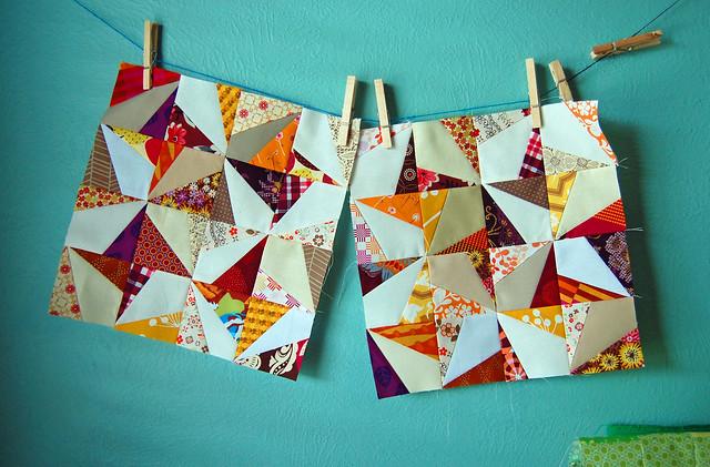 Wonky pinwheels