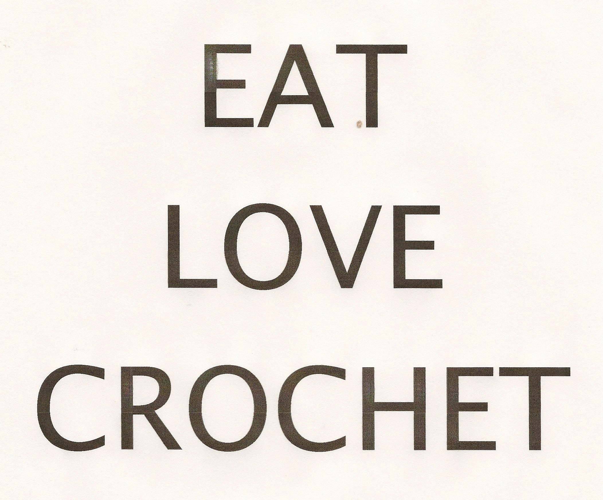 Crochet Sign
